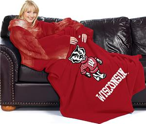 Northwest NCAA Wisconsin Comfy Throw (Smoke)
