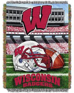 Northwest NCAA Wisconsin HFA Tapestry Throw