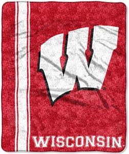 Northwest NCAA Wisconsin Jersey Sherpa Throw