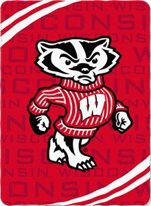 Northwest NCAA Wisconsin Fleece Force Throw