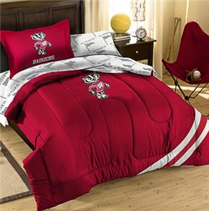 Northwest NCAA Wisconsin Twin Bed in Bag Set