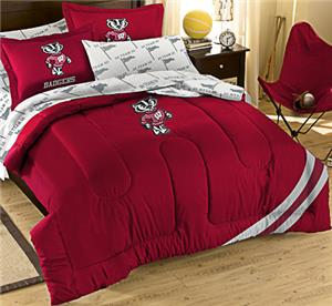 Northwest NCAA Wisconsin Full Bed in Bag Set