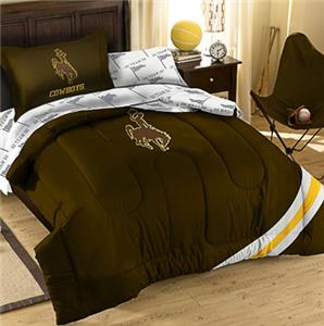 Northwest NCAA Univ of Wyoming Twin Bed in Bag Set