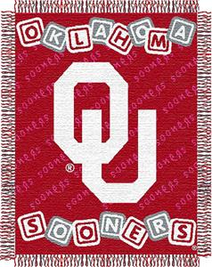 "Northwest NCAA OU 36""x 46"" Baby Throw"