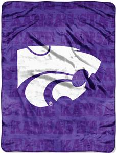 Northwest NCAA K-State Grunge Raschel Throw