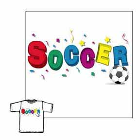 Closeout - Soccer 3-D soccer tshirt gifts