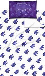 Northwest NCAA K-State University Twin Sheet Set