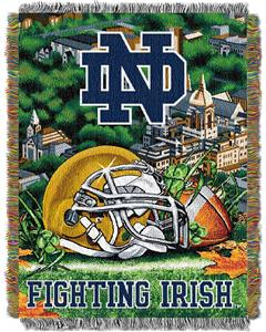 Northwest NCAA Notre Dame HFA Tapestry Throw