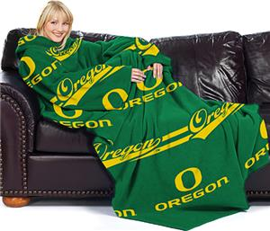 Northwest NCAA Oregon Comfy Throw (Stripes)
