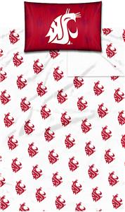 Northwest NCAA Washington State Twin Sheet Set
