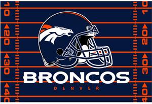 "Northwest NFL Denver Broncos 39""x59"" Rugs"