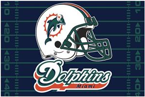 "Northwest NFL Miami Dolphins 39""x59"" Rugs"