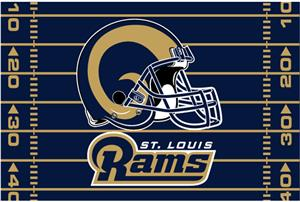 "Northwest NFL St. Louis Rams 39""x59"" Rugs"