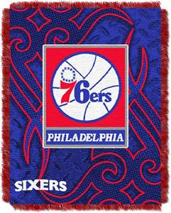 Northwest NBA Philadelphia 76ers 48x60 Woven Throw