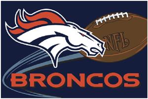 "Northwest NFL Denver Broncos 20""x30"" Rugs"