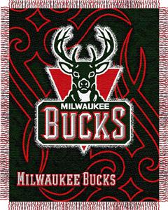 "Northwest NBA Milwaukee Bucks 48""x60"" Woven Throw"