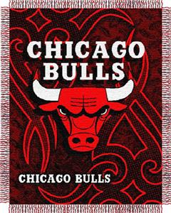 "Northwest NBA Chicago Bulls 48""x60"" Woven Throw"