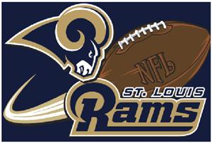 "Northwest NFL St. Louis Rams 20""x30"" Rugs"