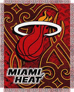"Northwest NBA Miami Heat 48""x60"" Woven Throw"
