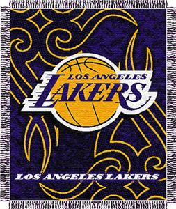 "Northwest NBA LA Lakers 48""x60"" Woven Throw"