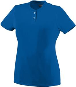 Augusta Ladies Wicking Two-Button Jersey