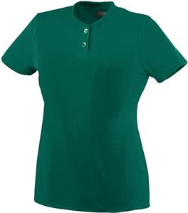 Augusta Girls' Wicking Two- Button Jersey
