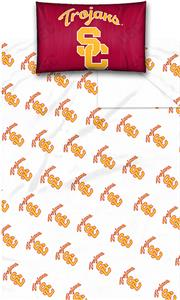 Northwest NCAA USC Twin Sheet Set