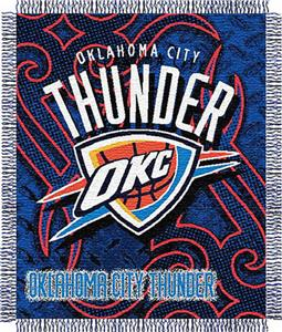 "Northwest NBA OKC Thunder 48""x60"" Woven Throw"