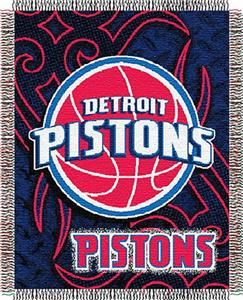 "Northwest NBA Detroit Pistons 48""x60"" Woven Throw"