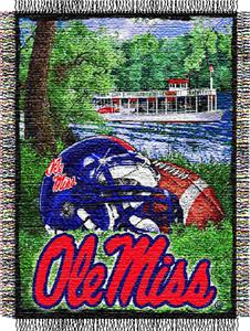 Northwest NCAA Ole Miss HFA Tapestry Throw
