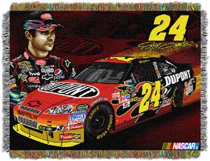 Northwest NASCAR Jeff Gordon 48x60 Tapestry Throw