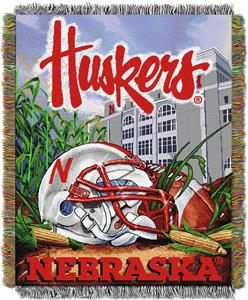Northwest NCAA Univ of Nebraska HFA Tapestry Throw