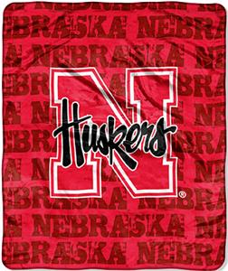 Northwest NCAA Nebraska Grunge Raschel Throw