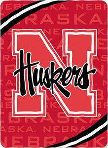 Northwest NCAA Univ of Nebraska Fleece Force Throw