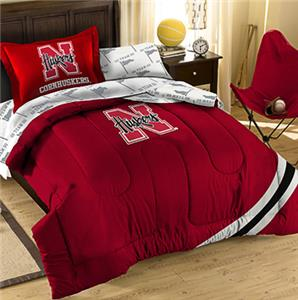 Northwest NCAA Nebraska Twin Bed in Bag Set