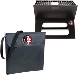 Picnic Time Florida State Charcoal X-Grill w/ Tote