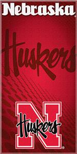 Northwest NCAA University of Nebraska Beach Towel