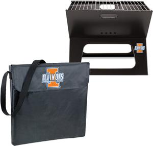 Picnic Time University Illinois Charcoal X-Grill