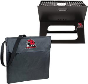 Picnic Time Miami Redhawks Charcoal X-Grill w/Tote