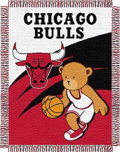"Northwest NBA Chicago Bulls 36""x46"" Baby Throw"
