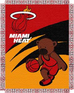 "Northwest NBA Miami Heat 36""x46"" Baby Throw"
