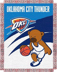 "Northwest NBA OKC Thunder 36""x46"" Baby Throw"
