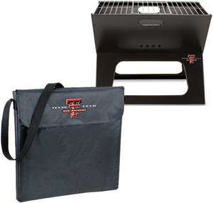 Picnic Time Texas Tech Charcoal X-Grill with Tote