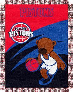"Northwest NBA Detroit Pistons 36""x46"" Baby Throw"