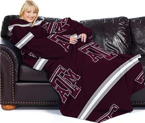 Northwest NCAA Texas A&M Comfy Throw (Stripes)