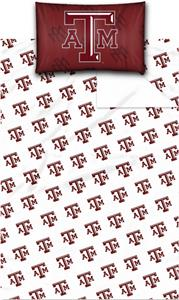 Northwest NCAA Texas A&M University Twin Sheet Set