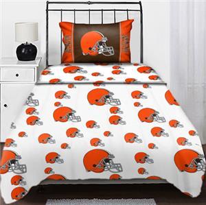 Northwest NFL Cleveland Browns Twin Sheet Sets