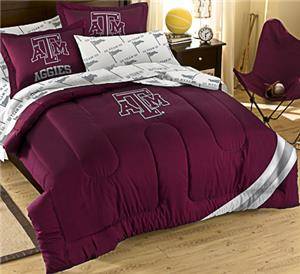Northwest NCAA Texas A&M Univ Full Bed in Bag Set