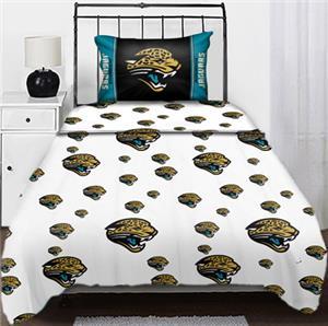 Northwest NFL Jacksonville Jaguars Twin Sheet Sets