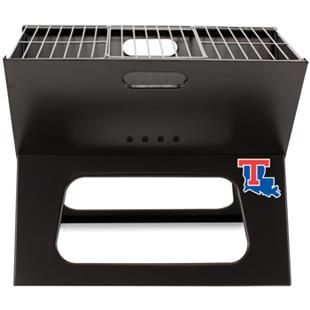 Picnic Time Louisiana Tech Charcoal X-Grill w/Tote